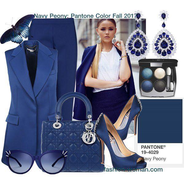 Pantone Fashion Color Report Fall-Winter 2017-2018: Navy Peony // Модные цвета осень-зима 2017-2018, по версии Pantone: Navy Peony