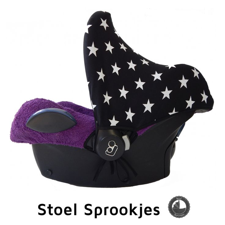 Zonnekap ster zwart met maxi cosi hoes badstof paars car for Housse maxi cosi cabriofix