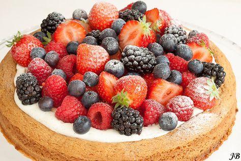 Carolines blog: Taart van sloffendeeg met zomerfruit