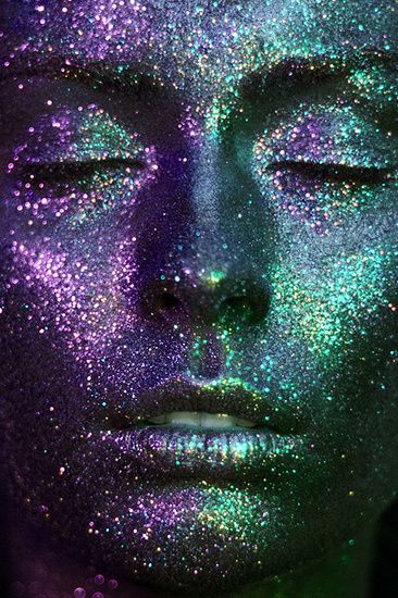 Photo and Concept : Nicoleta Spiridon Make-up: Andra Diac Model: Alexandra Balutescu   cosmos, blue, stars, glitter, turquoise