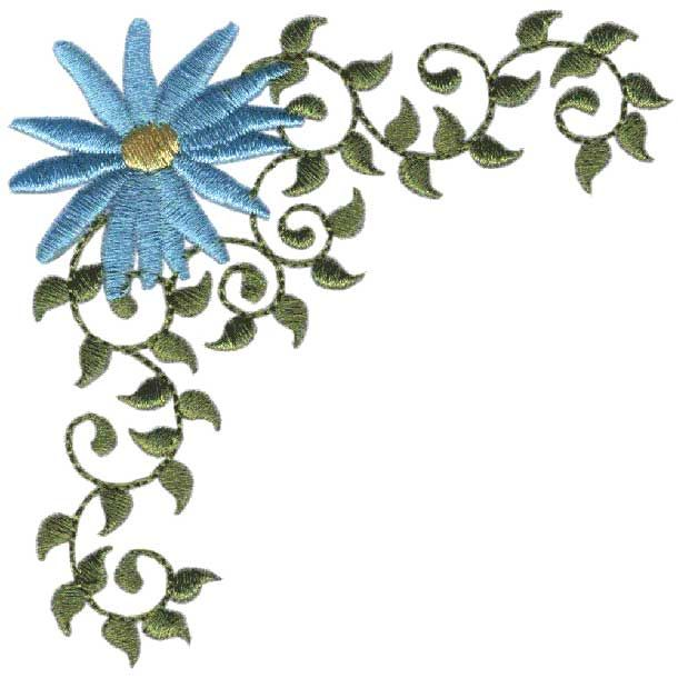 Daisy Corner 1 machine embroidery design.
