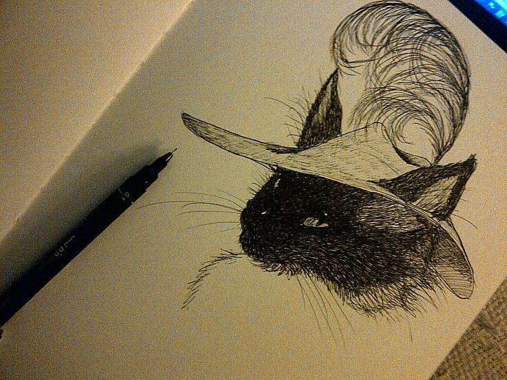 """Nanook the cat as """"Le Maitre Chat"""""""