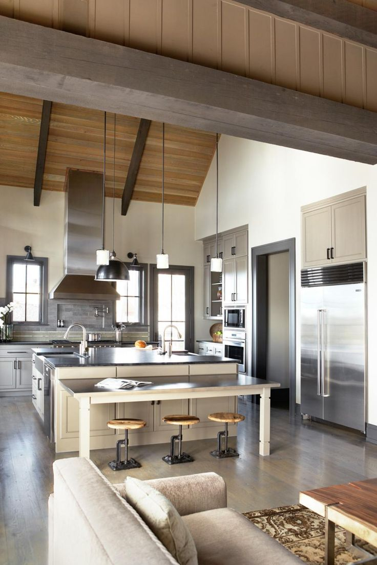 Beautiful Exposed Beams And Wooden Planks On The Ceiling Add Architectural  Interest And Texture To The