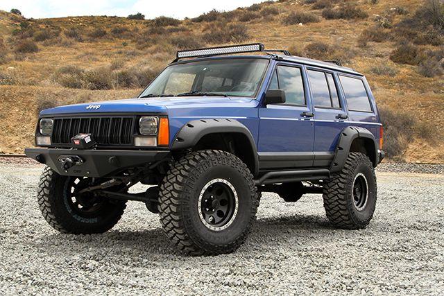 Jeep Cherokee Xj Bumpers >> New Bushwacker fenders and 35-inch Mickey Thompson tires.   XJ Cherokee Build   Pinterest ...
