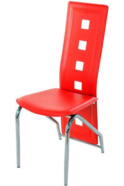 Sunt scaune cu spatar inalt si decupat in forme moderne, pot fi utilizate atat in spatii publice cat si in propria locuinta. Aceste scaune au cadrul metalic acoperit cu crom, iar  sezutul si spatarul sunt tapitate cu piele ecologica. Dimensiunile acestuia: -inaltime totala: 100 cm; -inaltime pana la sezut: 46 cm; -inaltime spatar: 58 cm; -dimensiuni sezut: 40 x 43 cm. Pentru mai multe detalii si fotografii vizitati-ne la adresa http://www.scauneonline.ro/scaune-bucatarie-buc-1312 !