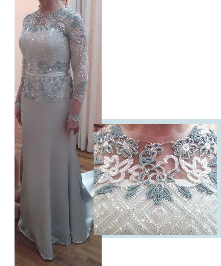 Vestido para mãe do noivo - sob medida Ateliê Esther Bauman Acquastudio São Paulo/SP