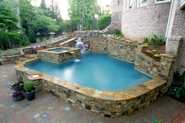 154 best images about pools on pinterest for Raised pool designs
