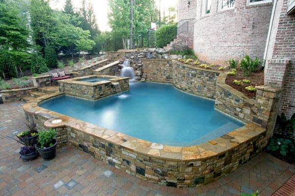 154 best pools images on pinterest decks dream pools for Raised pool ideas
