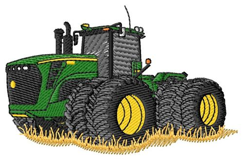 Embroidery Of Tractors : Grand slam designs embroidery design green tractor