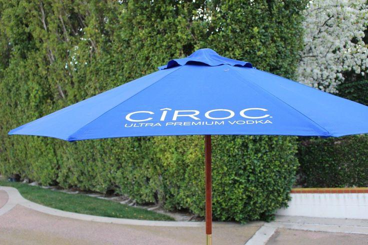 Ciroc Ultra Premium Vodka Canvas Patio Umbrella W/wood Pole, Used