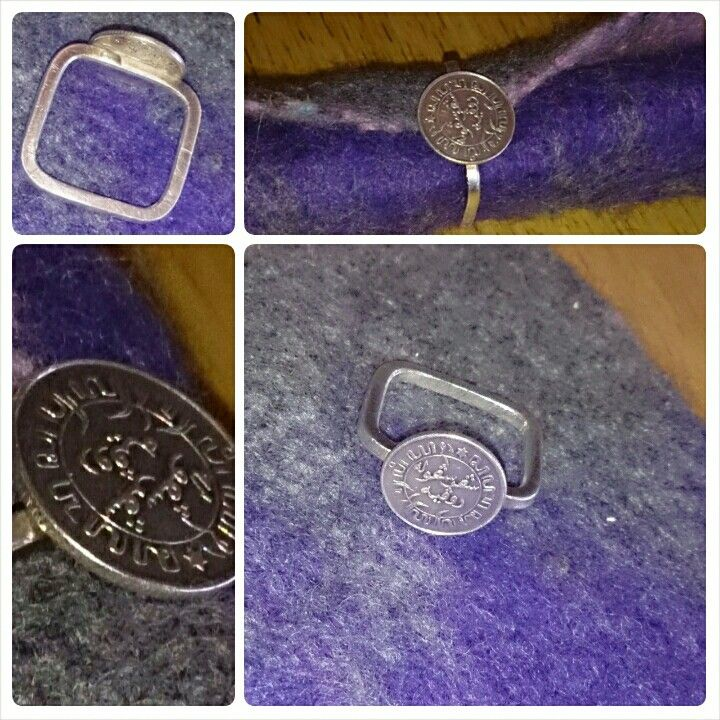 A ring with very special meaning, my roots.. This silver coin was brought to Holland by my grandparents in 1952,  when they immigrated from Indonesia.  Made by Gallegal