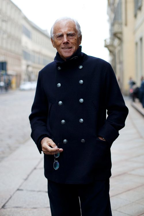 On the Street…..Mr. Armani, Milano «  The Sartorialist