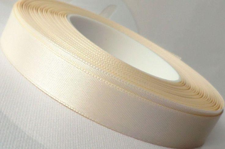 SATINBAND 25m x 15mm (1m=0,16EUR) ELFENBEIN - CREME Schleifenband Geschenkband DEKOBAND: Amazon.de: Küche & Haushalt