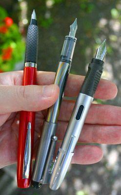 Shoot-out Review: 3 Cheap Fountain Pens, Part III - Parker Reflex ...