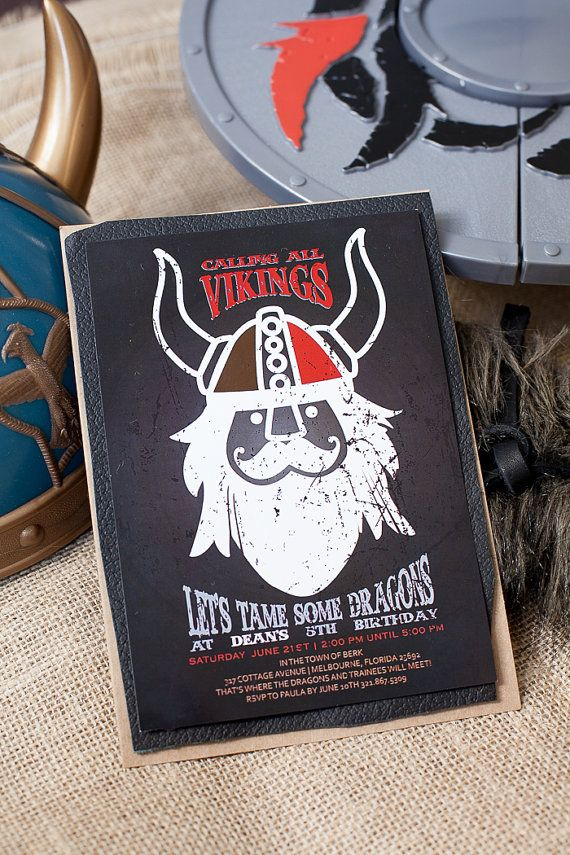 Viking/How to Train Your Dragon Party by southernbellescharm, $48.00
