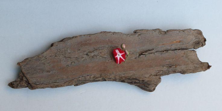 Rustic Driftwood Bark Plank / DIY Sign , Beach Wedding & Coastal Home and Garden Decoration by ElaLakeDesign on Etsy