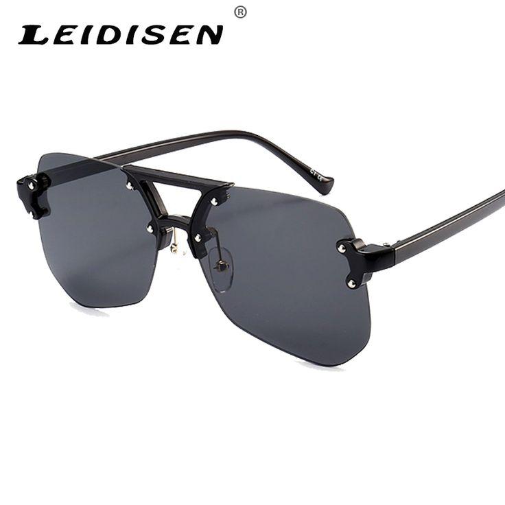 LEIDISEN New Fashion Clear Frame Square Shape Women Sunglasses Brand designer Women Retro Luxury Sunglasses Clear Lens