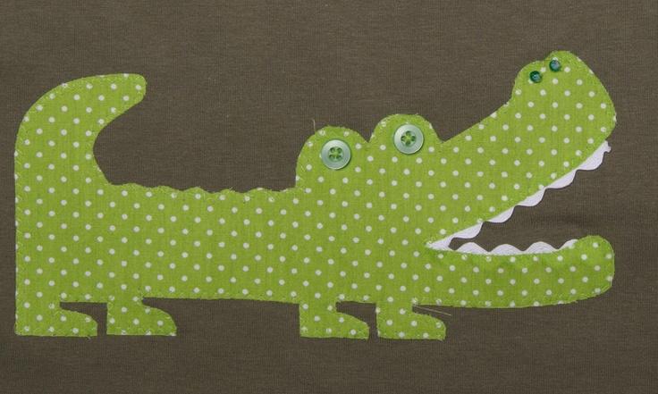 Aufnäher - Krokodil * Applikation * selbstgemacht - ein Designerstück von Zierstoff bei DaWanda