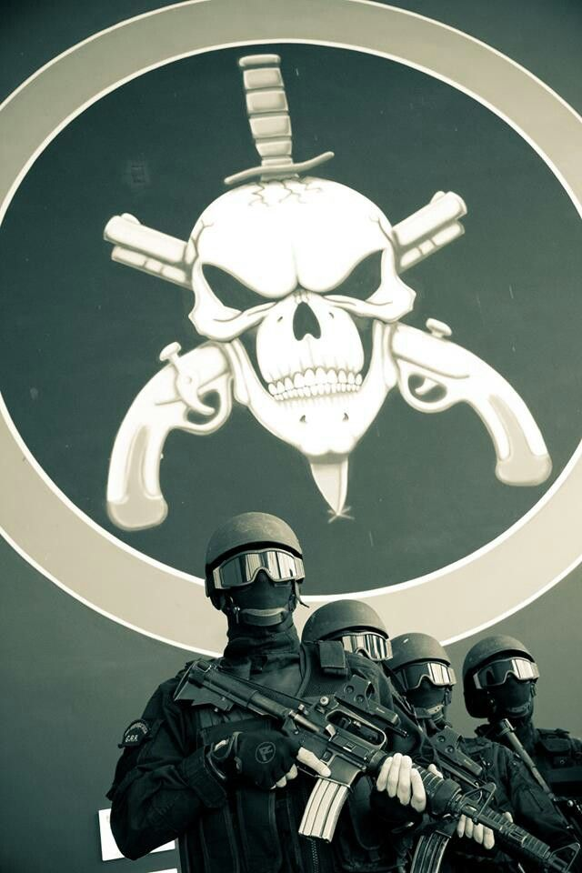 BOPE Batalhao de Operacoes Policiais Especiais...military police of Rio de Janeiro, Brazil