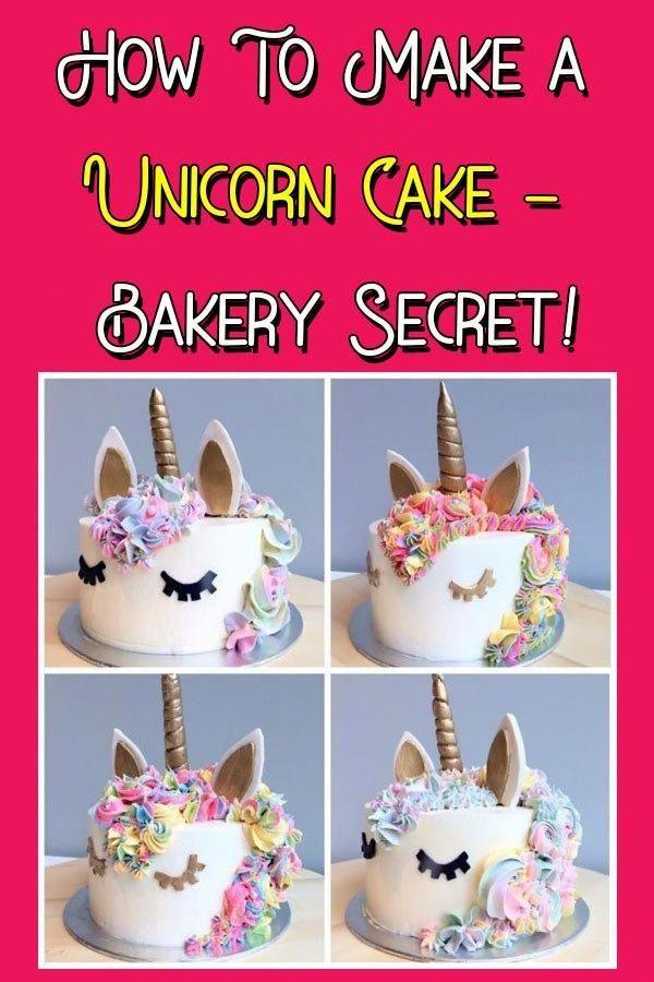 Ein einfaches Rezept für einen Funfetti-Einhorn-Kuchen, verziert mit pastellfarbener Buttercreme und …
