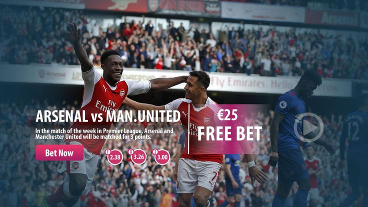 #Arsenal vs #ManchesterUnited  Make your deposit and bet with the highest odds !  Win €25 Free Bet !  #PremierLeague #bet #Saturday #highodds #Parasino  http://www.parasino16.com/en/sportsv2/#prematch