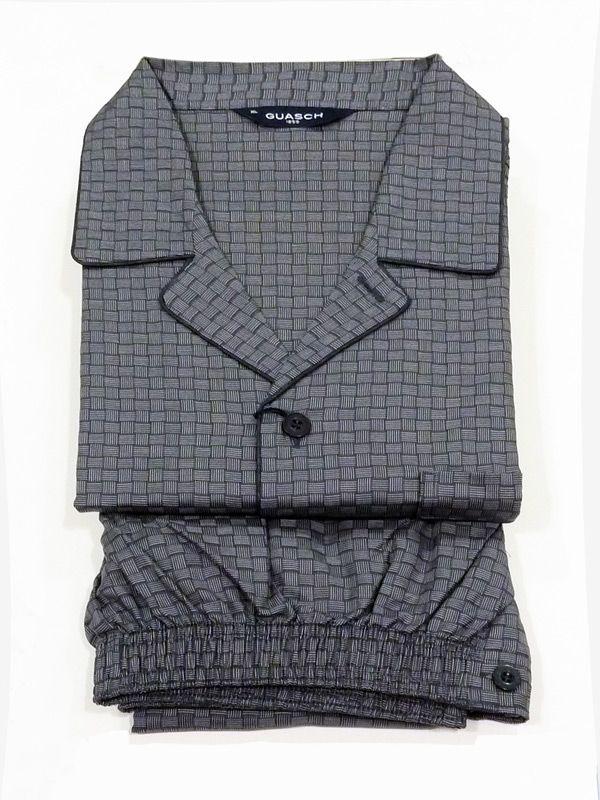 Pijama Guasch Nudos. Pijama para Hombre en tela de algodón muy suave. Aunque el pijama es largo, la tela es fina y sirve para un uso continuado de todo el año. http://www.varelaintimo.com/categoria/40/pijamas #pijamas #menswear #mensunderwear