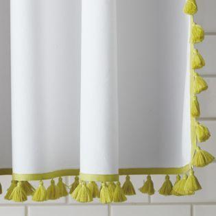 Serena & Lily: Tassel Shower Curtain – Citrine