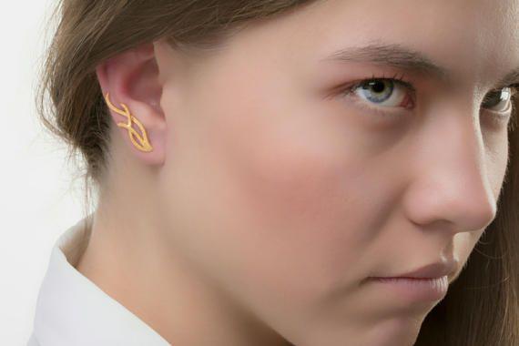 Floral αυτί climbersEar σφαλιάρα βλαστοί σκουλαρίκια 925