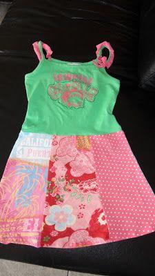 leuke jurk van t-shirts komt van zaansezolder