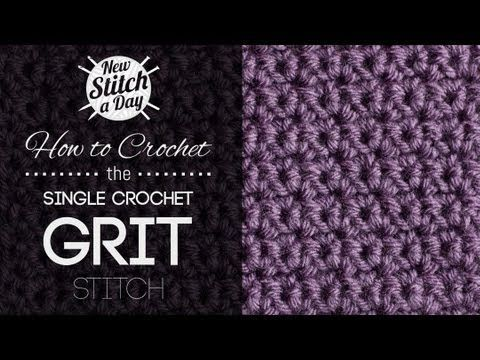 How to Crochet the Crunch Stitch - YouTube