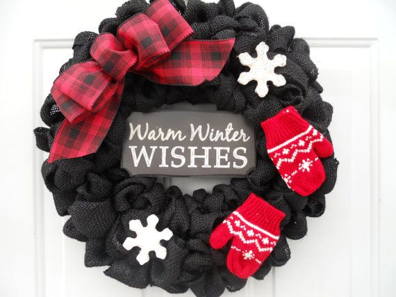 christmas wreath winter wreath holiday wreath by chloescraftcloset