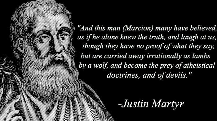 Justin Martyr on the false teacher Marcion
