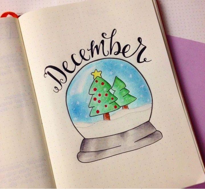 Прикольные картинки для срисовки в лд на тему зима