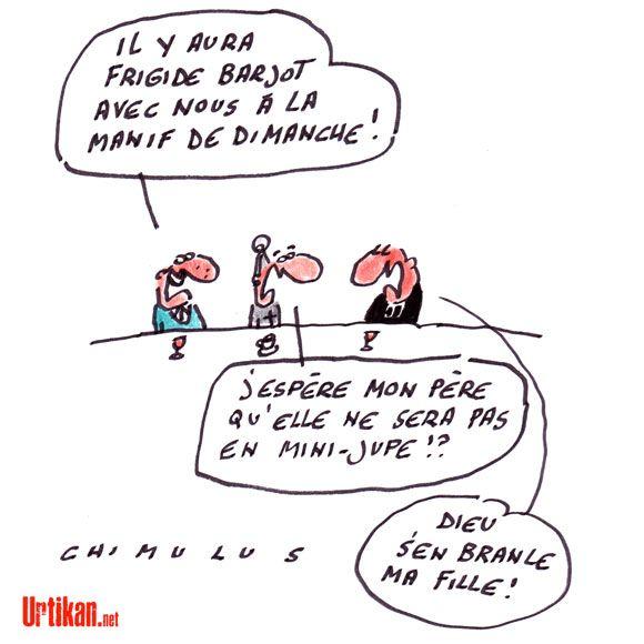 Frigide Barjot, égérie contestée des opposants au « mariage pour tous » - Dessin du jour - Urtikan.net
