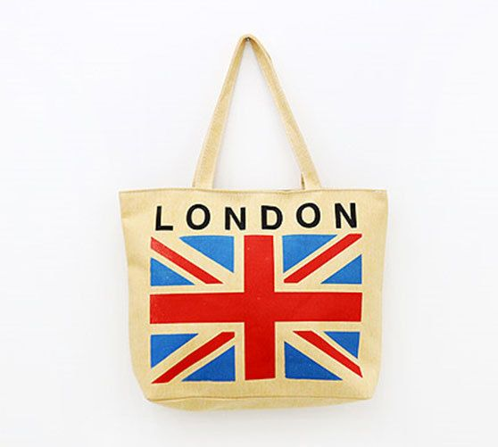 MIRINE New London New York City National Flag Practical Eco Friendly Canvas Bag #MIRINE #EcoFriendlyBag
