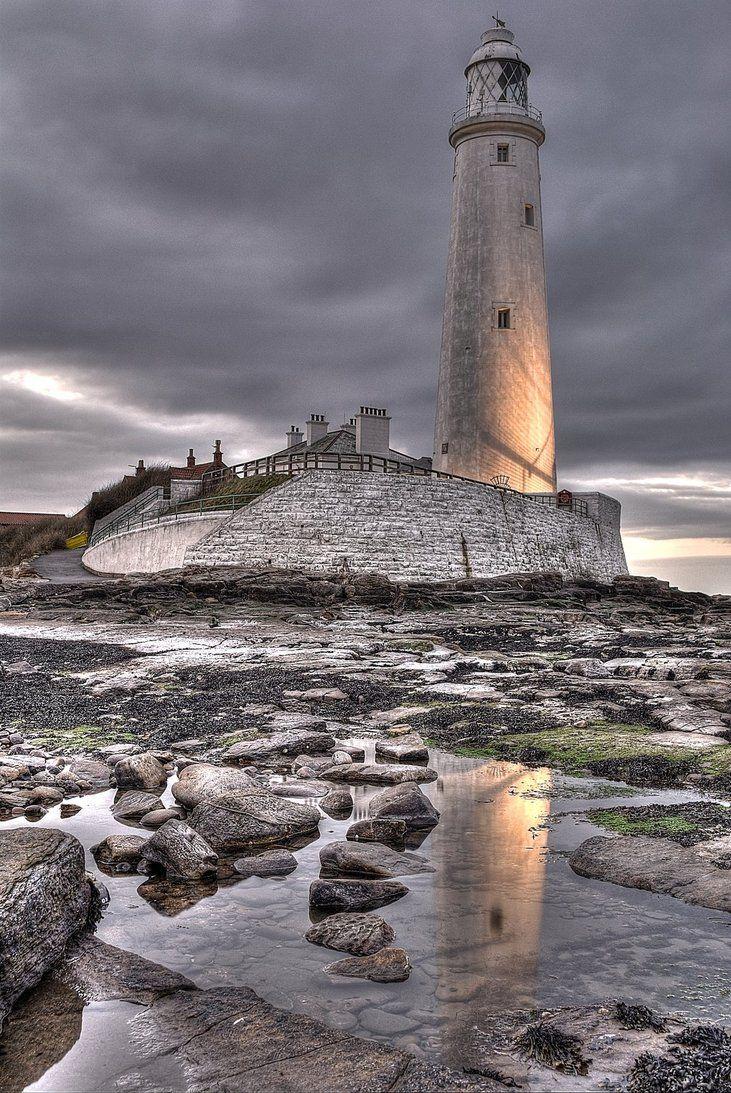 St Marys Lighthouse HDR by 1-Professor-Chaos-1.deviantart.com on @DeviantArt