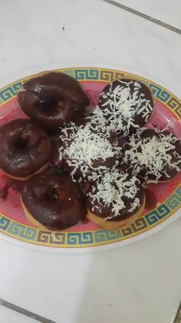 Donat cokelat keju simple