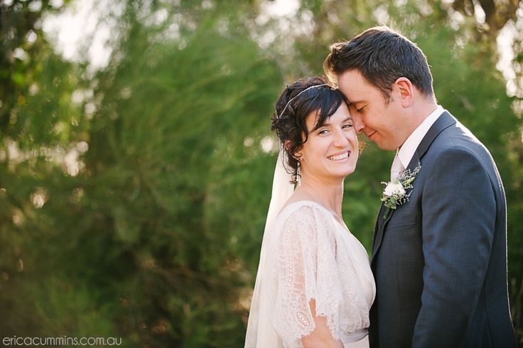Beautifully hand-crafted Echuca wedding. Bride made her own dress and rings!