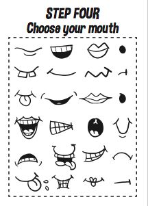 How to Draw Cartoon Faces – Printable A4 Workbook | Design The Dream