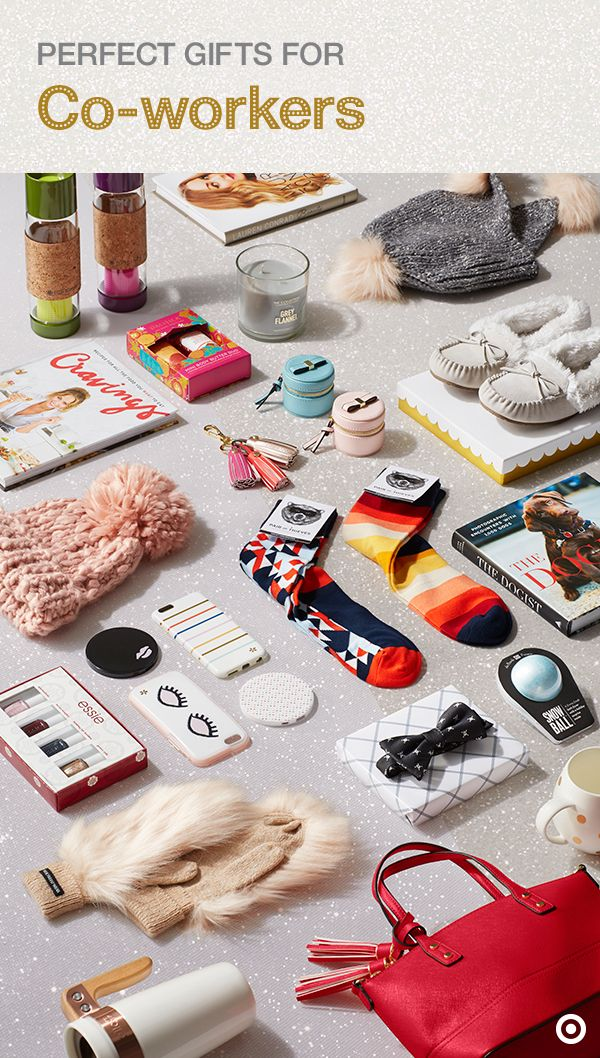 Score workplace points with awesome Christmas gifts for your coworkers. Find something for your Secret Santa or your employees without breaking the bank. For guys, fun, graphic socks, plaid bow-ties and travel mugs. For gals, cozy pom hats, slippers and mittens or festive nail polish and on-trend tassel handbags. The options are endless. For more gift ideas, check out the Wonderlist Gift Guide.