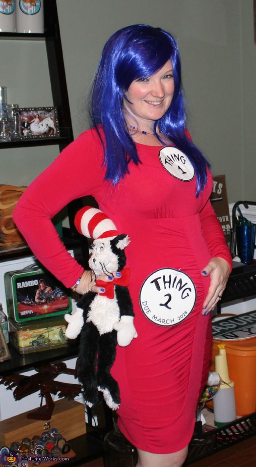 pregnancy costume thing 1 and thing 2 - Pregnant Mom Halloween Costume