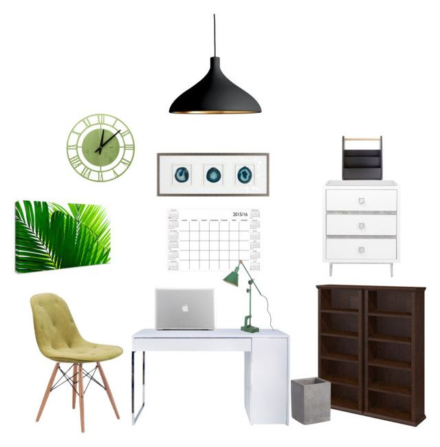 """Home office"" by nhitasheilota on Polyvore featuring interior, interiors, interior design, home, home decor, interior decorating, TemaHome, Pablo, WallPops and Umbra"