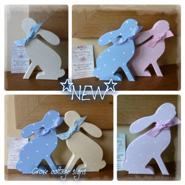 NEW star-gazing hares #handmade #easter #grovecottage #personalised #keepsakes #woodengifts#bunnies