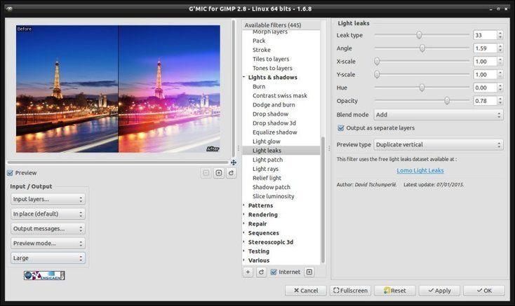 G'MIC 1.6.8: C'est déjà Noël pour les traiteurs d'image ! via @sv_net #SvnetActuLibre