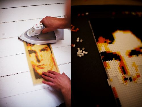 How to make a pattern for Perler beads from photos