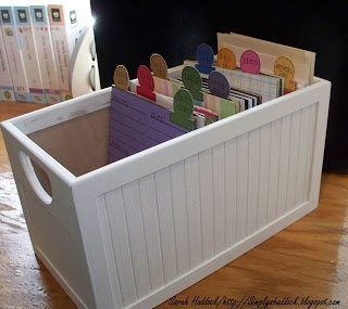 Simply By Sarah: Greeting Card Storage File box---