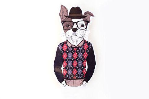Hipster Hund – Fräulein Gelb