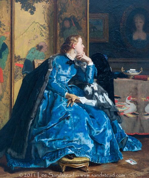 The Blue Dress - Alfred Stevens  1865-1867