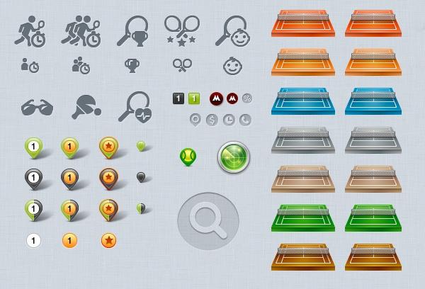 Tennis Radar by Ann Artemova, via Behance #interface #tennis #sport #web #design #ui #icons