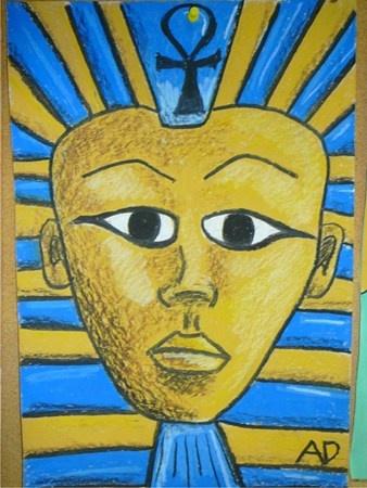 Egyptian Sarcophagus Mask - Artsonia Lesson Plan   Upper ...